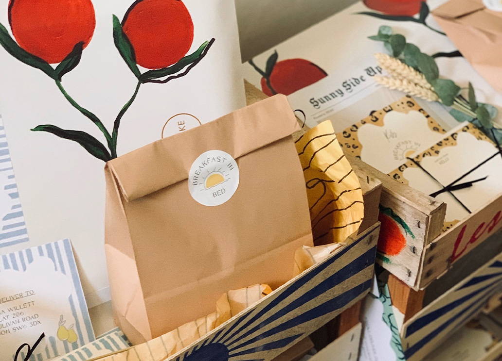 Breakfast in Bed Gift Boxes with Romeo and Jules