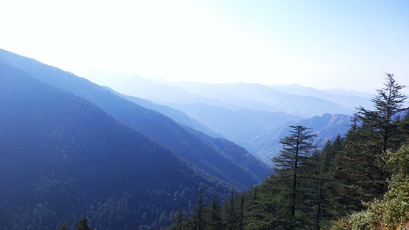 Breathtaking landscape view in Shimla, India