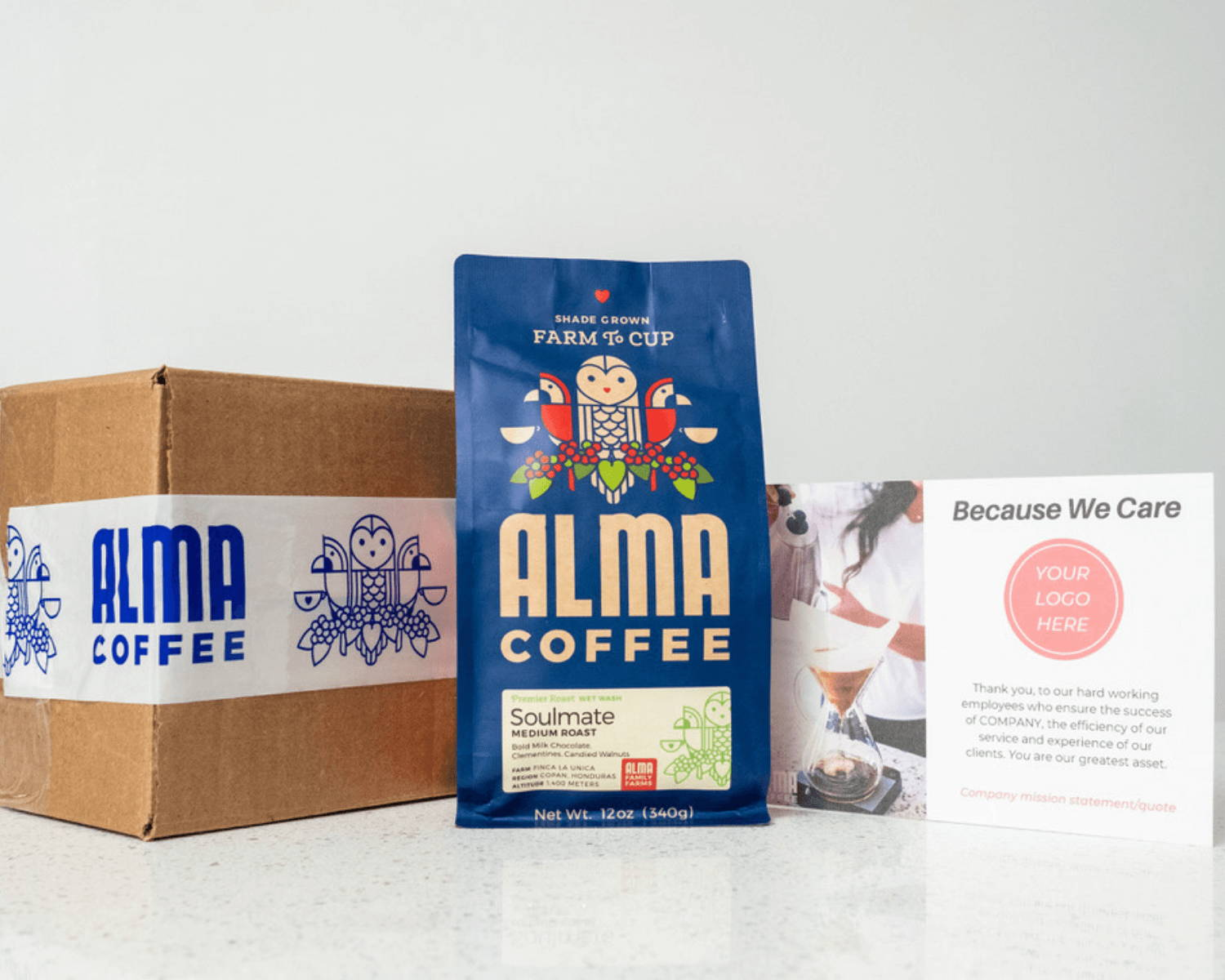 Corporate coffee gifts by Alma Coffee
