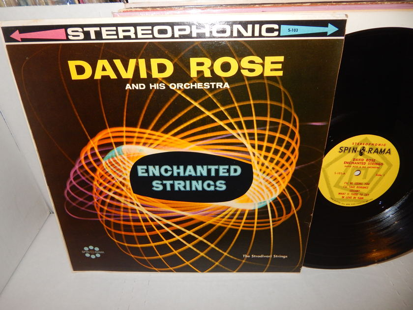 DAVID ROSE Enchanted Strings - The Stradivari Strings  Pop String Orchestra LP VG++