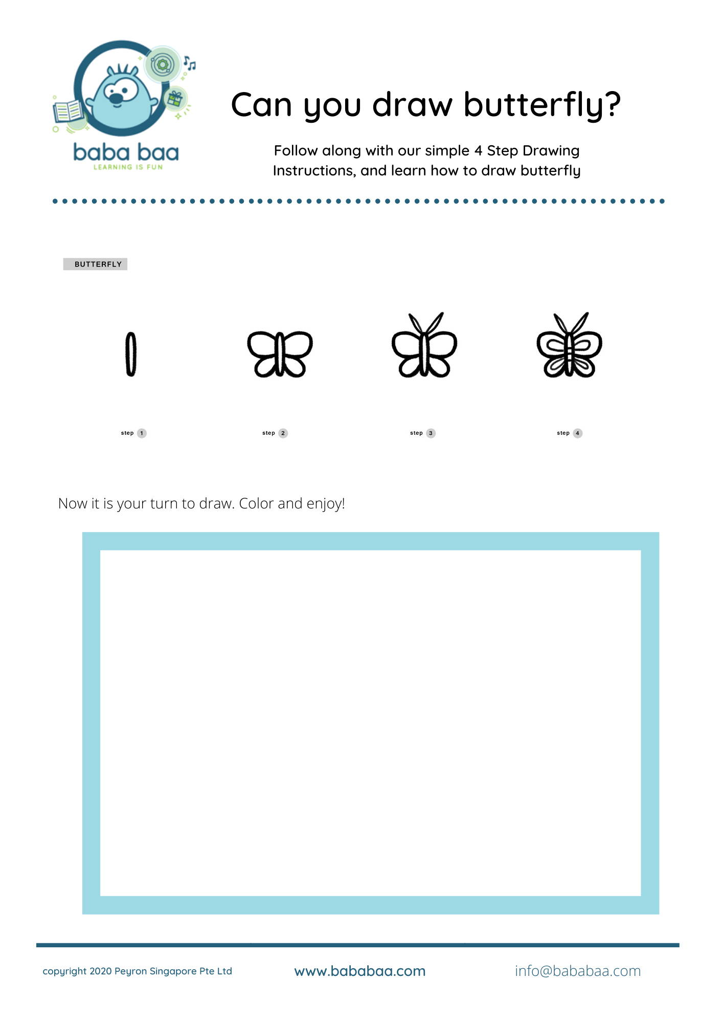 Follow along with our simple step by step drawing instructions, and learn how to draw butterfly.