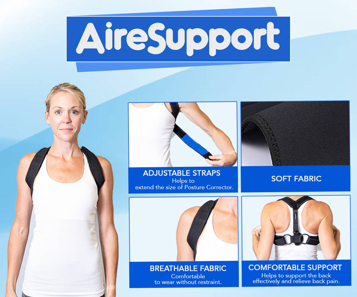 posture corrector adjustable straps soft breathable fabric