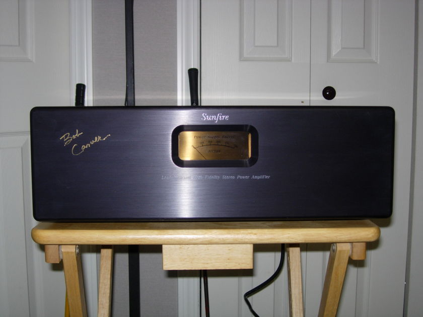Sunfire Signature 600 Rare Mint condition! - Signed personally by bob carver.