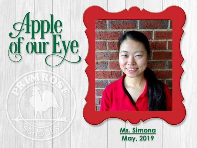 May's Apple of Our Eye, Ms. Simona