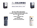 La Colombe Subscription and Gift Basket