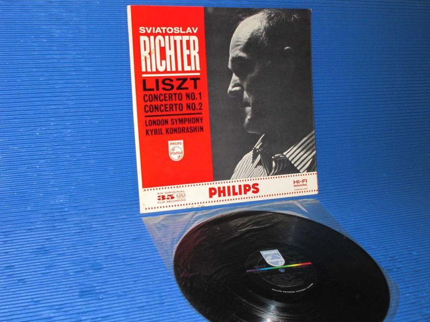 """LISZT / Kondrashin / Richter  - """"Concerto 1 & 2"""" -  Philips 1962 Mono SEALED"""