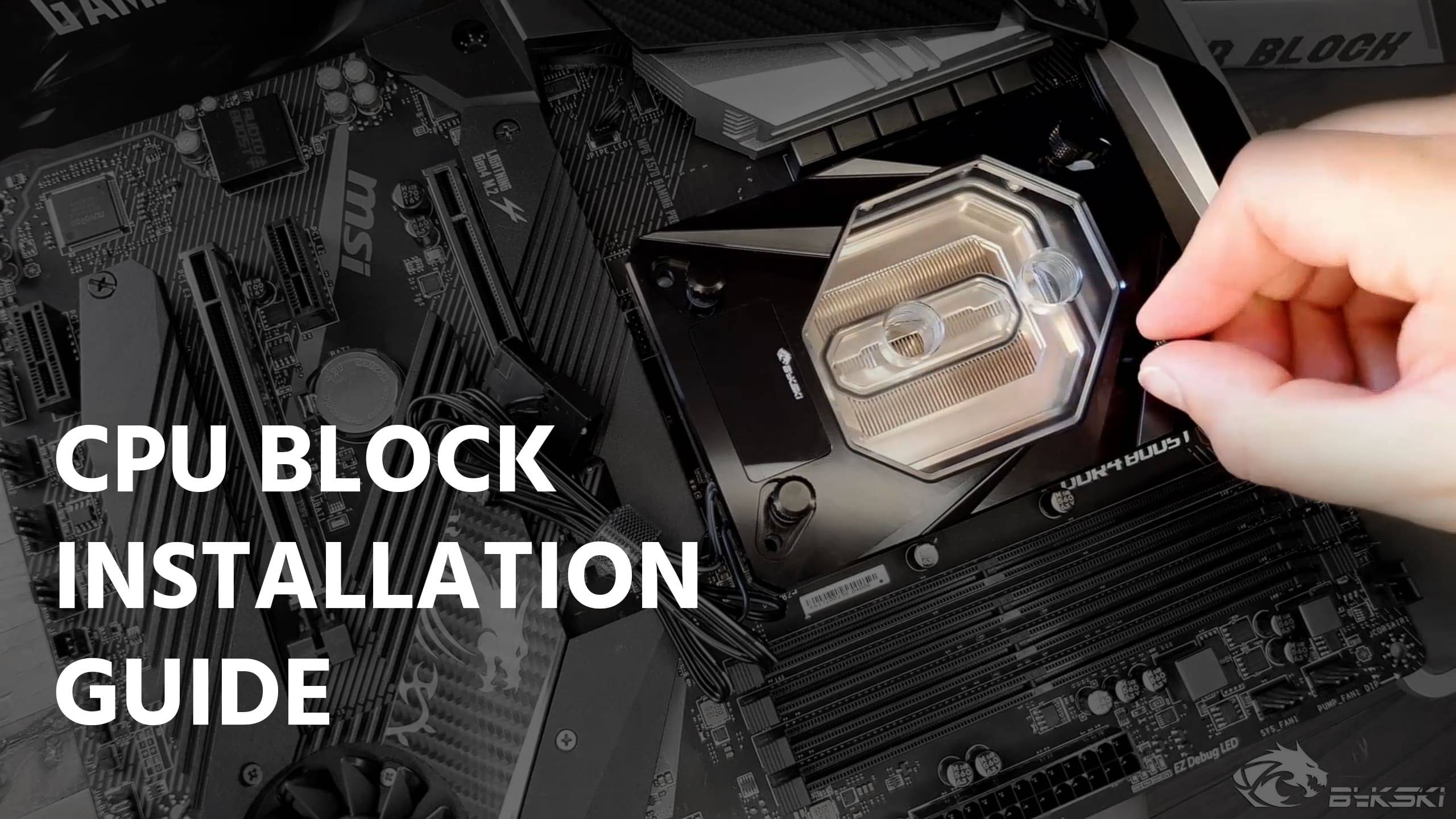Bykski CPU Block Installation and thermal paste application 4K