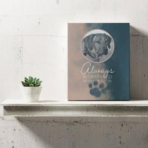 """Always Remembered, Never Forgotten"", Dog Memorial Sign"