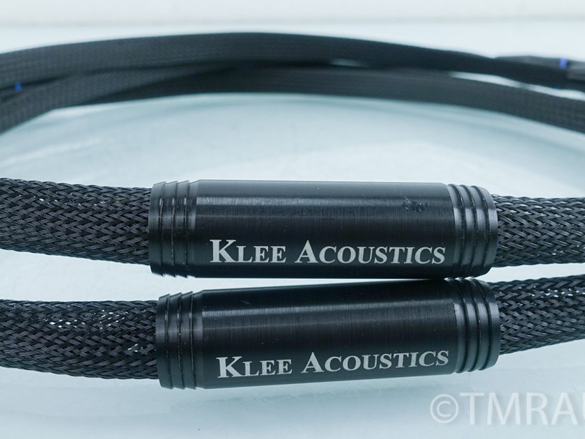 Klee Acoustics XLR Cables; 4 ft. Pair of Interconnects (9457)