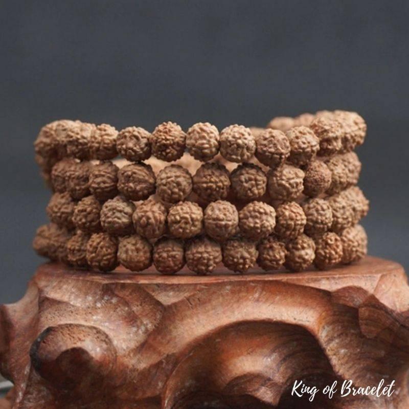 Bracelet Mala 108 Perles en Graine de Rudraksha - King of Bracelet