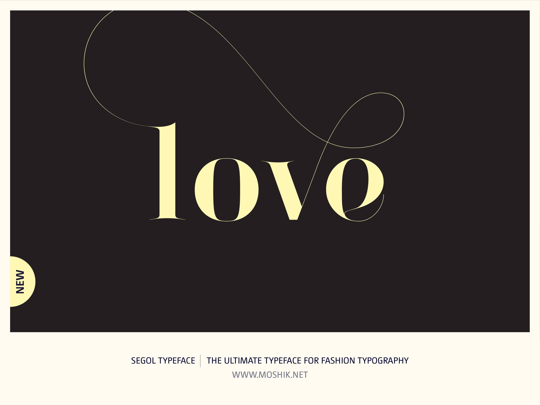 Segol Typeface, Love, Moshik Nadav, Fashion fonts, Fashion Typography, Vogue fonts, Fashion logos, Sexy logos, sexy fonts, custom fonts, custom fashion logo, Best fonts 2021, Must have fonts 2021, valentines, typography, Lowercase, Yellow