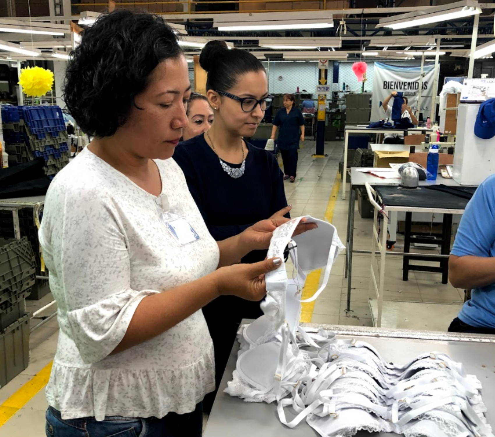 Pepper bras being ethically created in Colombia manufacturing facility