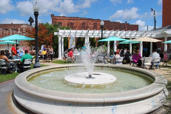 Image of fountain at plaza
