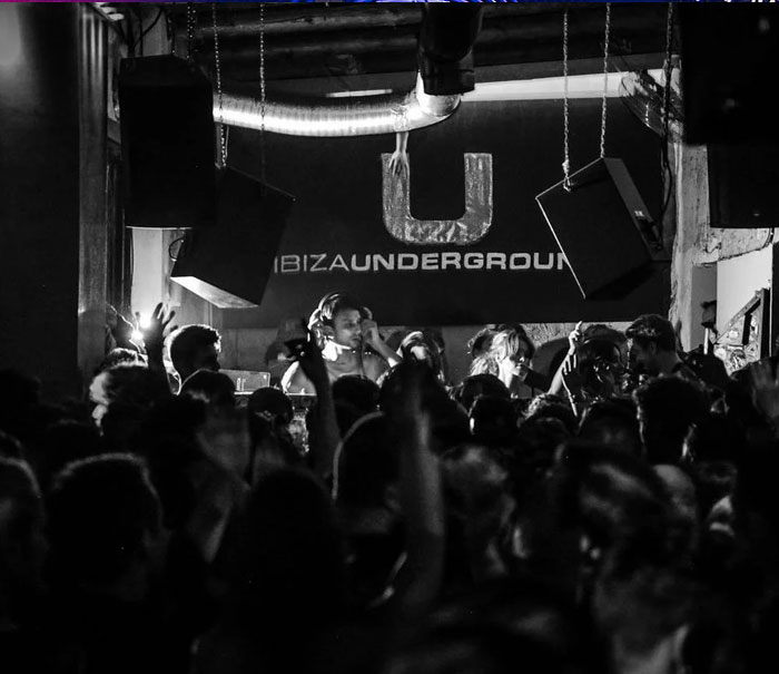 Underground club Ibiza, nightclubs and parties