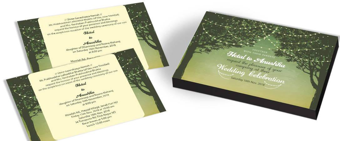 Forest Trees Wedding Invitation