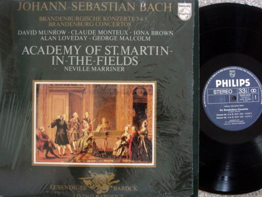 Philips / MARRINER, - Bach Brandenburg Concertos No.3~5, NM!