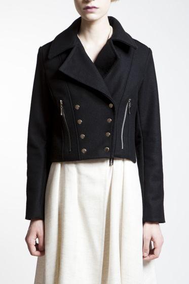 Шерстяная куртка-пальто на кнопках
