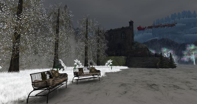 Santa in skies