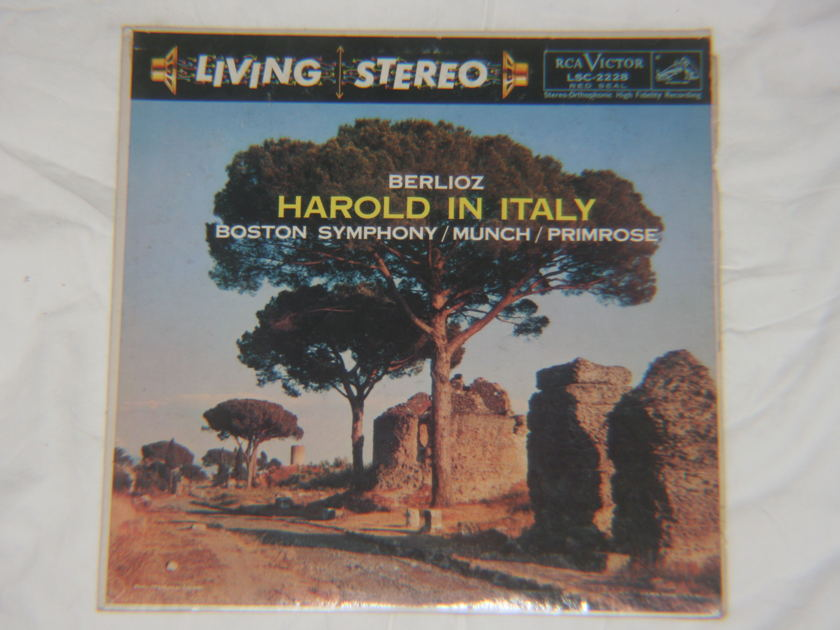 Munch - Berlioz Harold In Italy RCA Victor LSC-2228