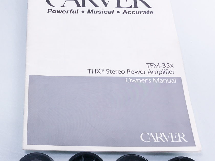 Carver  TFM-35X Stereo Power Amplifier (2862)