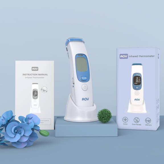 Thermomètre numérique packaging