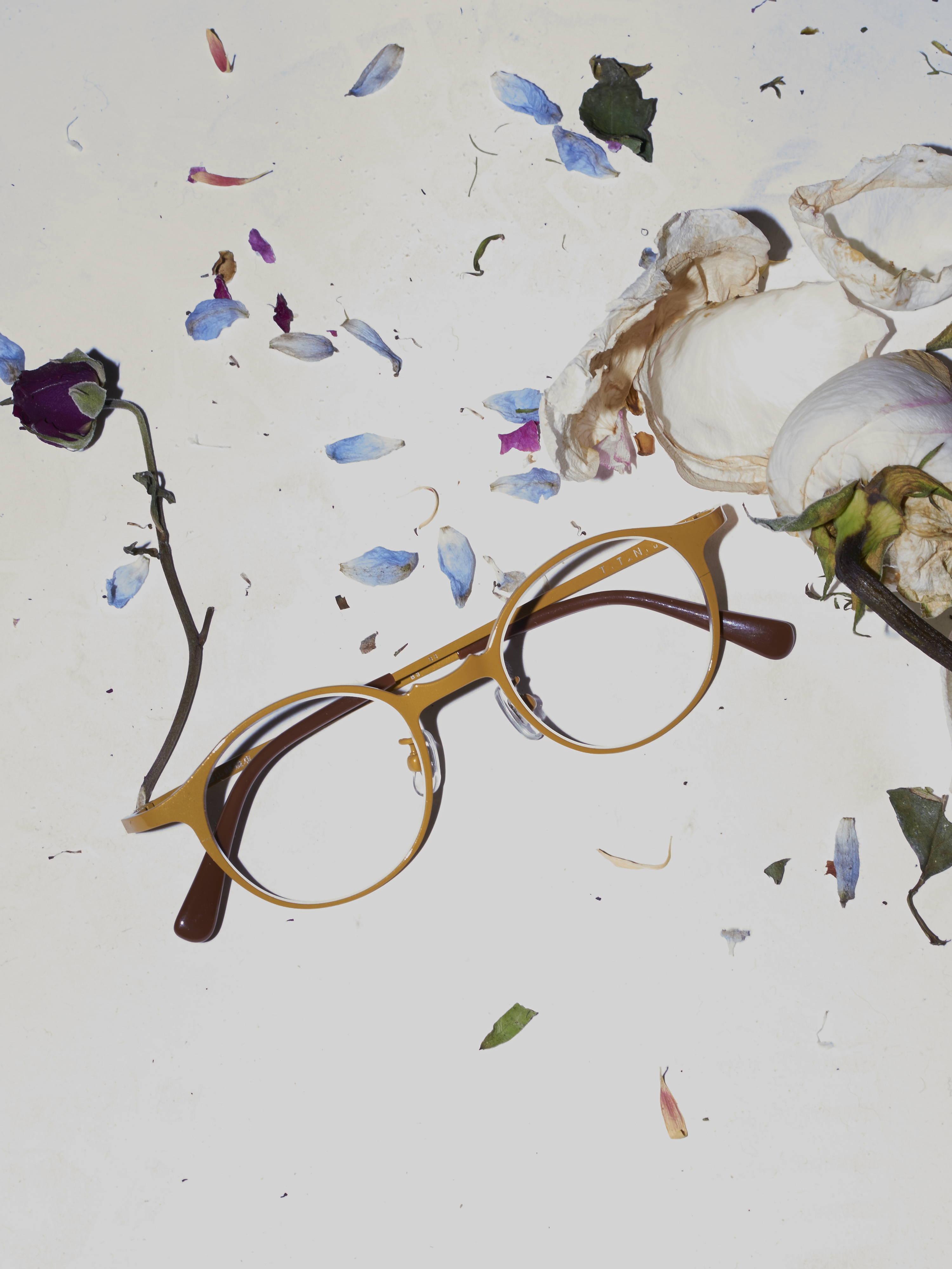 Hakusan-hlorenzo panto titanium glasses