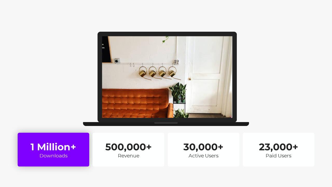 Minimal X  Pitch Deck Presentation Template Laptop Showcase