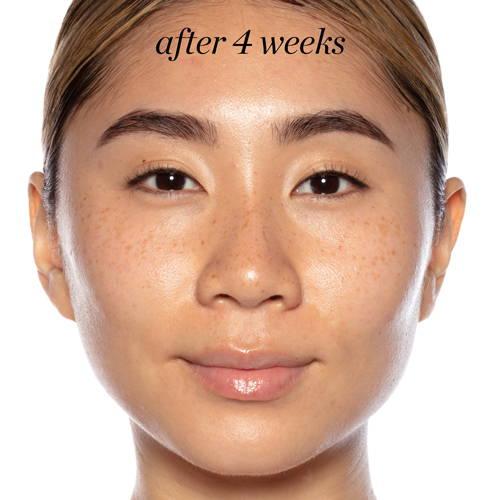 woman with skin glow