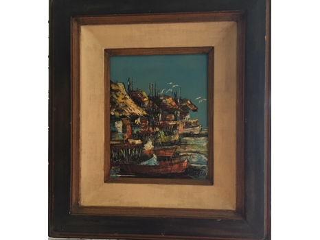 Original Oil Painting by Filipino artist Ulysses LaRosa