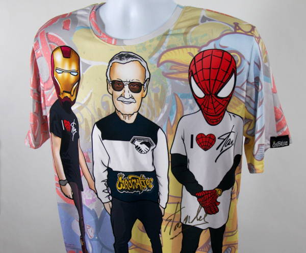 Custom Wholesale Activewear - Dye Sublimation Cut and Sew - Stan Lee Tee Shirt