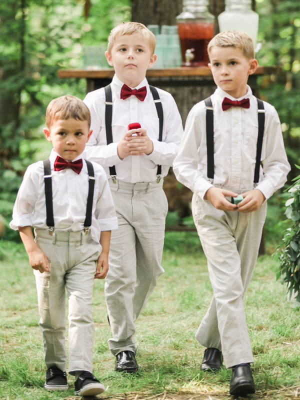 Ring Bearer Outfits with Suspenders