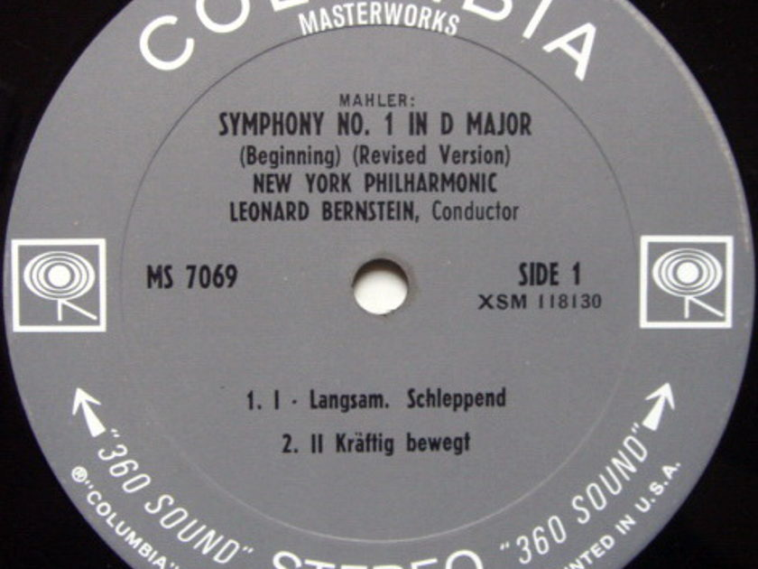 Columbia 2-EYE / LEONARD BERNSTEIN, - Malher Symphony No.1, NM!