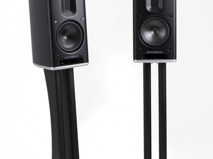 SCANSONIC MB-1 Speakers White W/Matching Stands