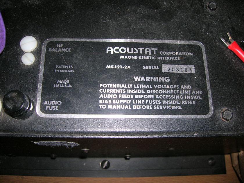 Acoustat 2 plus 2 speakers
