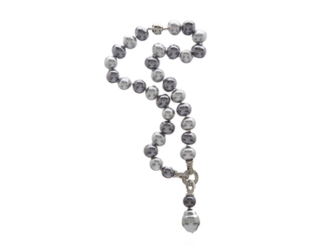 Gray Mother of Pearl Necklace