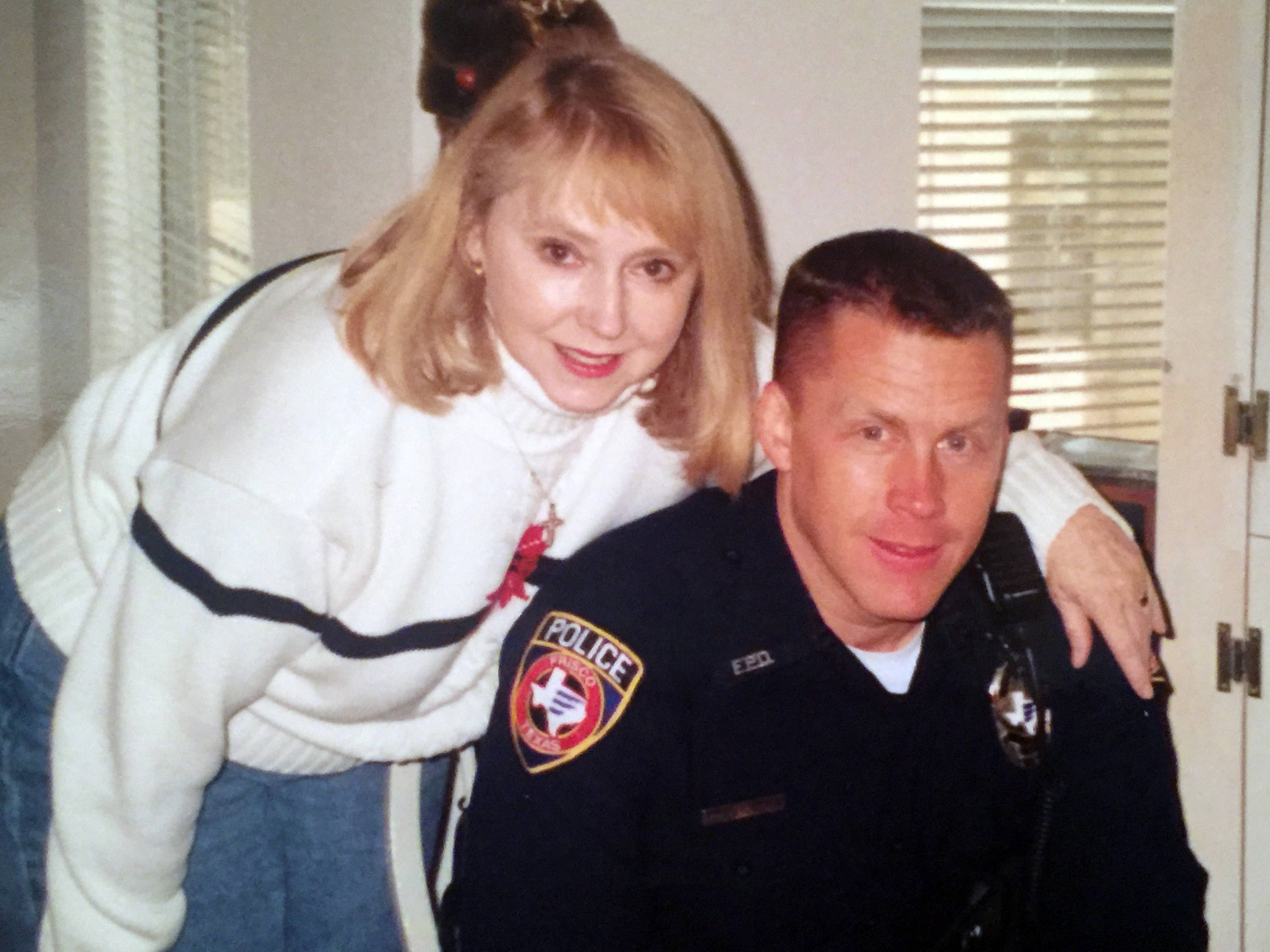 ron lyons police officer and his mom