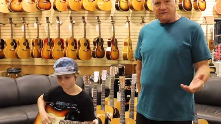 Kid Wanders Into Guitar Shop, Starts To Play, And Leaves Everyone With Their Jaws On The Floor!