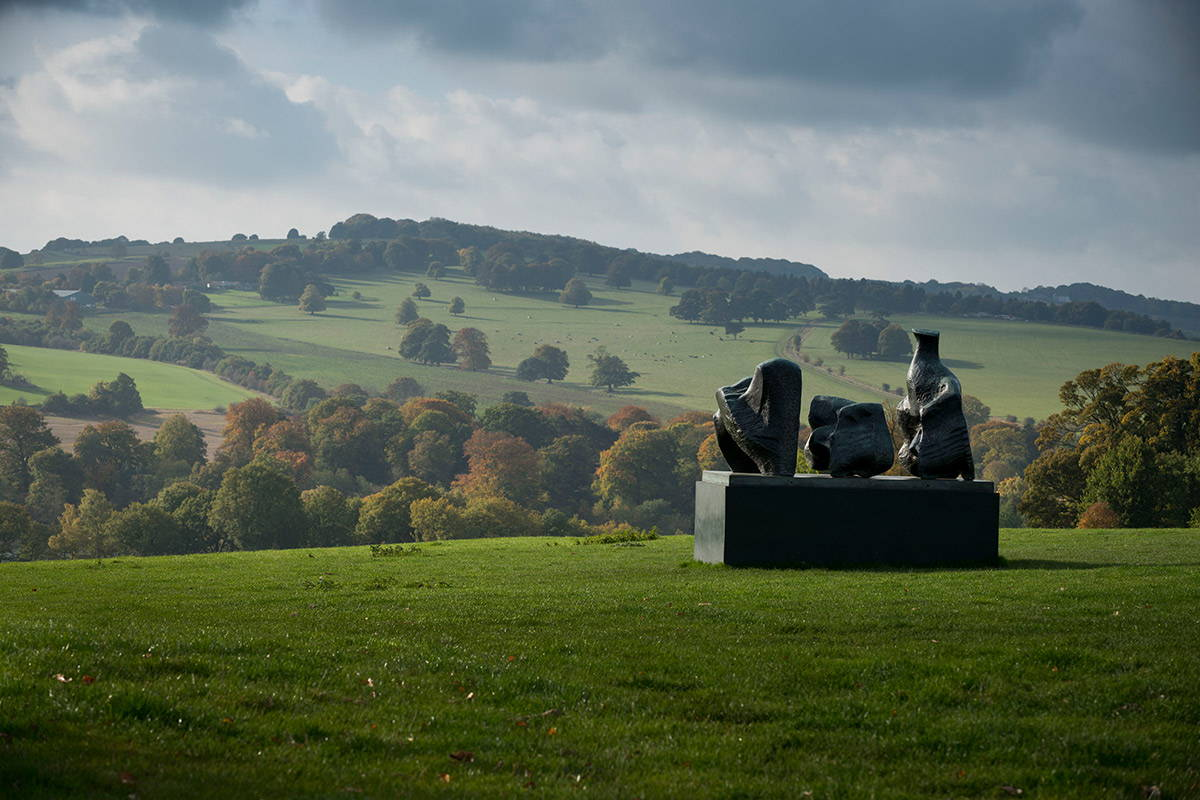 Henry Moore, Three Piece Reclining Figure No. 1, 1961-2 Yorkshire Sculpture Park