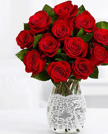 hf Dozen Roses Bouquet