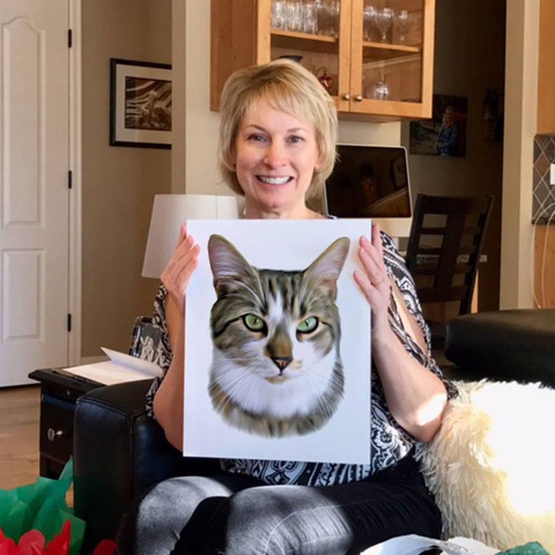 cat portrait - review