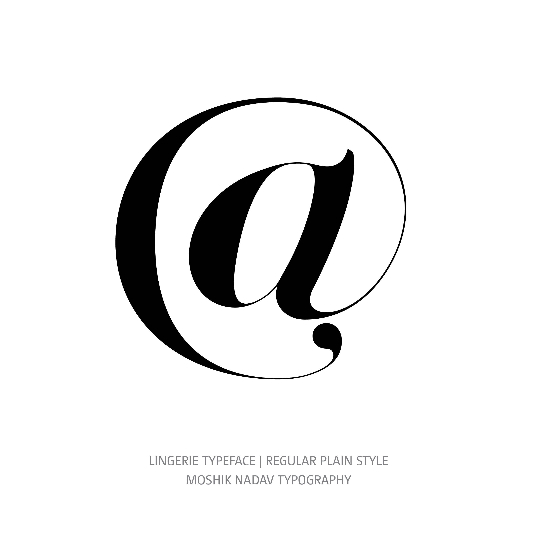 Lingerie Typeface Regular Plain @