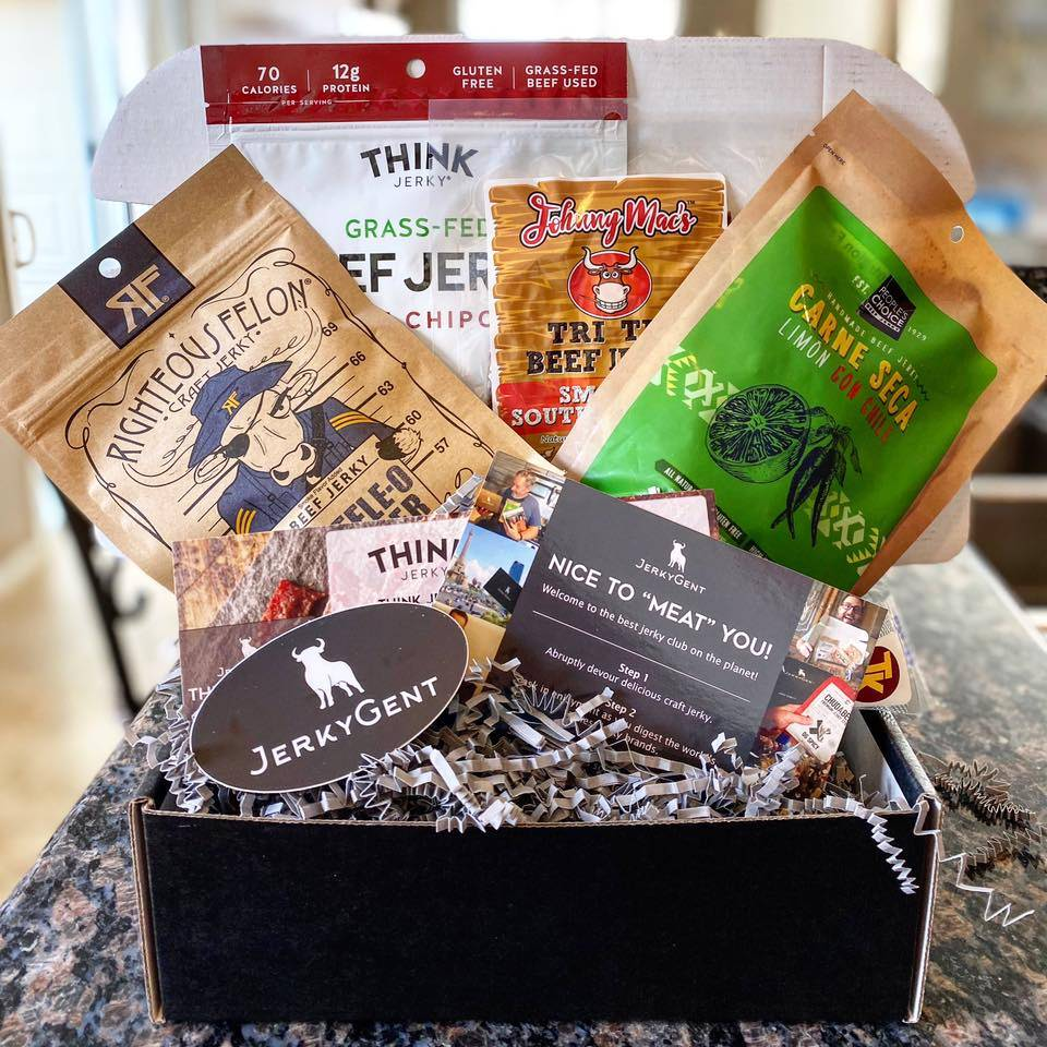The Best Beef Jerky Gift Boxes JerkyGent Subscription Boxes