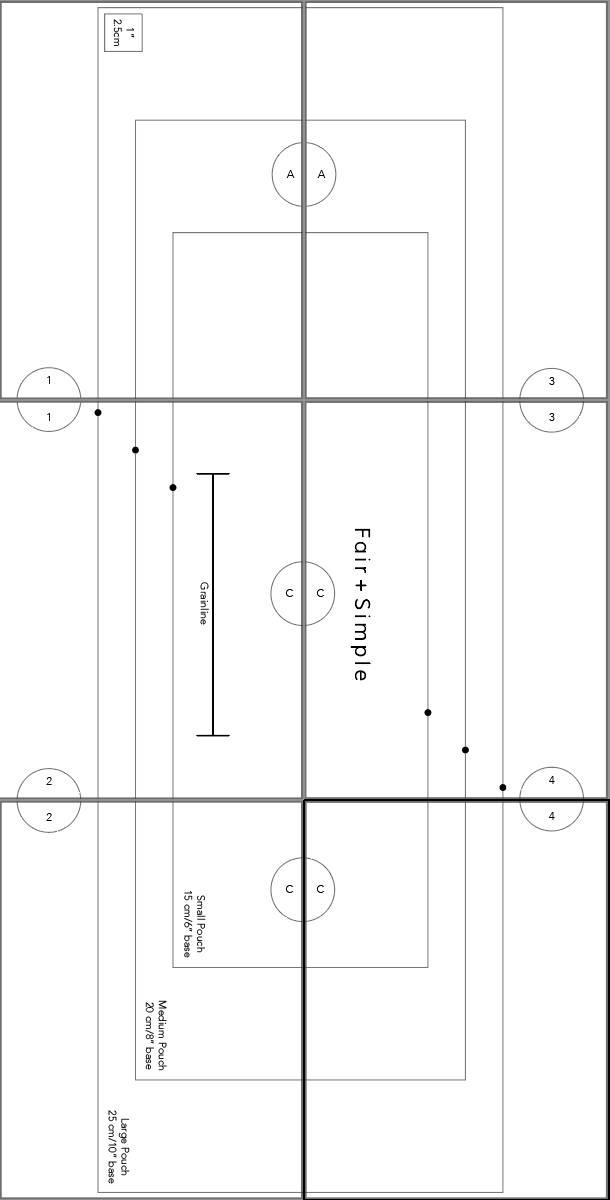 Sewing Pattern Digital Print Layout