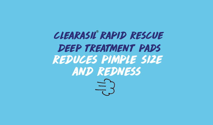 clearasil rapid rescue deep treatment pads reduces pimple size and redness