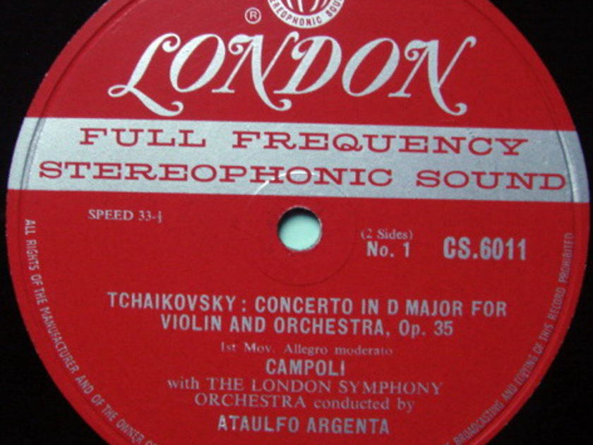 ★1st Press★ LONDON-DECCA FFSS-WB-BB / CAMPOLI, - Tchaikovsky Violin Concerto, NM-!