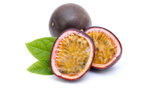 Passionfruit is a vine species bearing round fruit. It comes from South America; nowadays