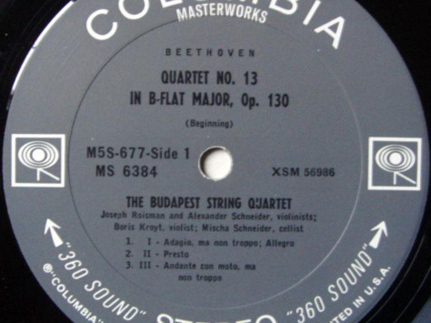 Columbia 2-EYE / BUDAPEST QT, - Beethoven String Quartet No13, MINT!
