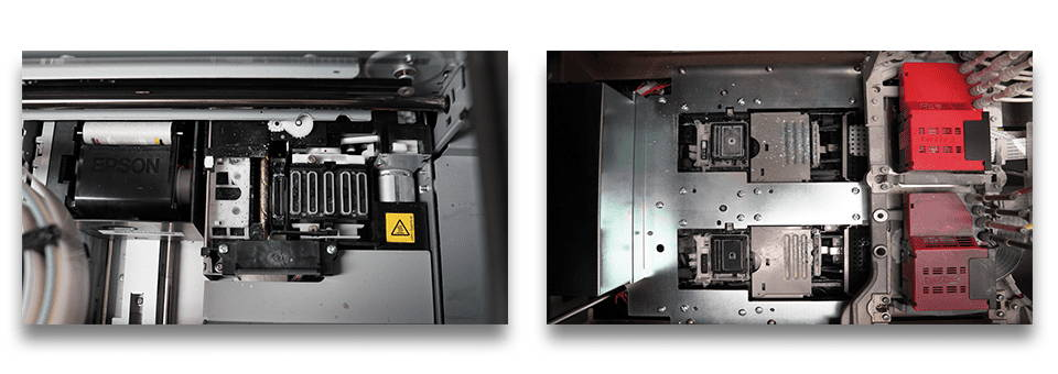 Epson F2100 and Brother GTX Inside View