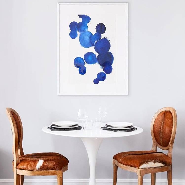 Lula art print by Parima Studio in Kira David Design Dinning Room