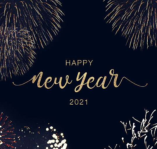 Visp - Happy New Year 2021 Slogan